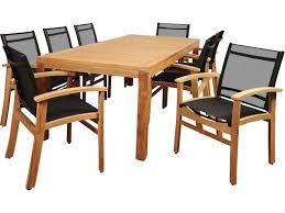 international home miami amazonia terrace 9 piece teak rectangular