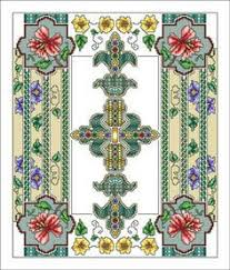 blue cross stitch pattern instant pdf by