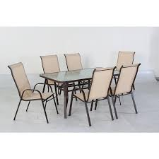 mw3210 7 pc sling patio set with 6 chairs sears outlet