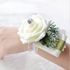 Prom Wrist Corsage Wedding Or Prom Wrist Corsage With Bracelet Silk Rose