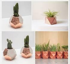 copper u0026 concrete geometric dodecahedron planter plant pot