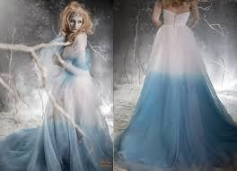 ombré wedding dress frozen ombre blue wedding dress staysileecouture diy