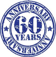 60 years anniversary grunge 60 years anniversary rubber st vector illustration