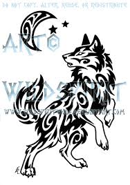windy swirl wolf and moon tattoo by wildspiritwolf on deviantart