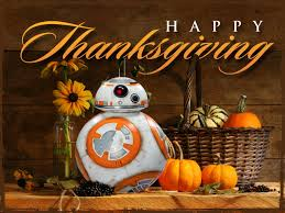 wars thanksgiving bb8 wars the awakens panel at