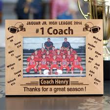 engraved football gifts personalized 1 football coach photo frame fsp441 sport party