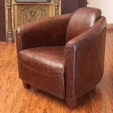 Leather Club Chair Abram Brown Top Grain Leather Club Chair U2013 Gdf Studio
