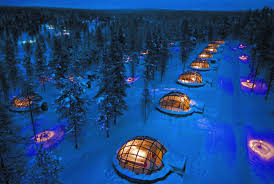 gaze up at the northern lights from one of these glass igloos