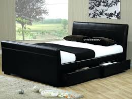 Faux Bed Frame Leather Bed Storage Imported Leather Bed Bed Soft Bed