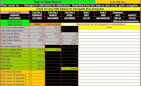 fuel report template truck driver accounting software spreadsheet program from