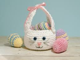easter bunny baskets easter bunny basket crochet pattern petals to picots