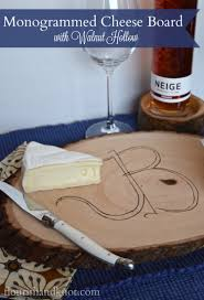 monogram cheese board monogrammed cheese board with walnut hollow