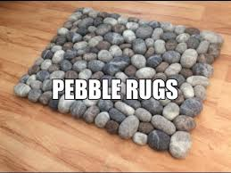 pebble rug felt stone pebble rugs youtube