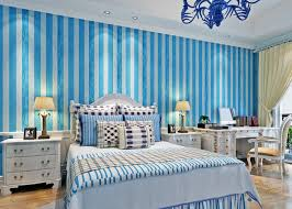 mediterranean style bedroom style pale blue and white striped wallpaper modern wallpapers