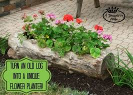 How To Make Planters by How To Make A Beautiful Diy Log Garden Planter How To Instructions