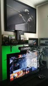 desks for gaming consoles xbox one setup 2016 battlefield 4 battlefield 3 gaming setup