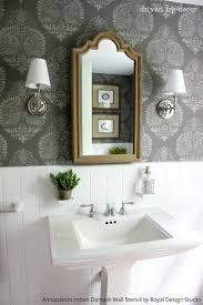 bathroom stencil ideas 10 bathroom makeover ideas stencils boring bathroom be