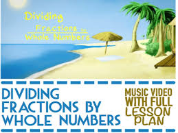 dividing fractions by whole numbers by letsrockmath teaching