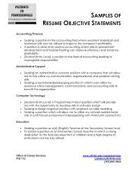 Security Job Resume Objective Resume Objectives Samples Classy Objective Of A Resume 14 Sample