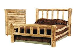 Western Bed Frames Rustic Discount Budget Bedroom Log Furniture Aspen Western Bed