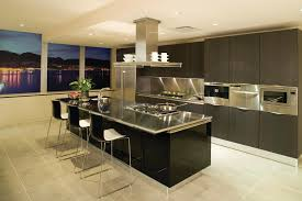 T Shaped Kitchen Islands by Black Kitchen Island With Stainless Steel Top Outofhome