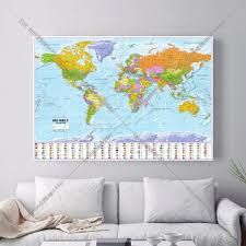 World Map Art Print by Compare Prices On Map Framed Art Online Shopping Buy Low Price