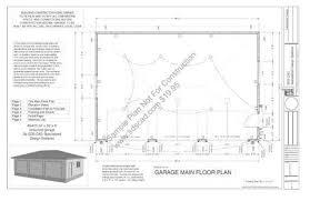 3 Car Garage Plans 3 Car Garage Plan Sdsg405 24 U0027 X 36 U0027 X 8 U0027 Blueprints Sds Plans