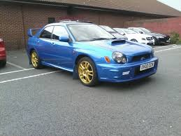 subaru sedan 2002 2002 subaru wrx sti type uk prodrive 73 000 fsh in watford