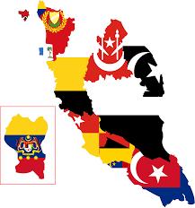 Malasia Flag Clipart Flag Map Of Peninsular Malaysia