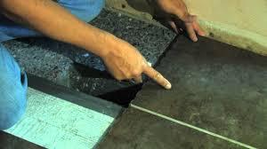 snapstone porcelain tile installation measuring the cut