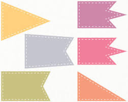 triangle flag banner clipart clip art library