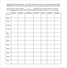 weekly schedule template 9 free word excel documents