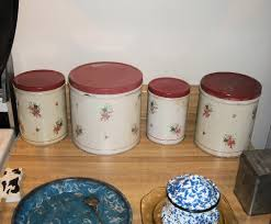 vintage kitchen canister set empeco by the national can company of