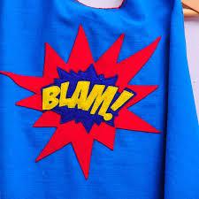 custom superhero cape with slogan by alice cook designs