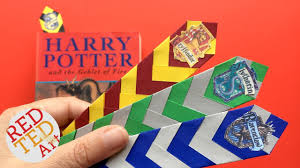 easy harry potter bookmark diy how to make a chevron bookmark