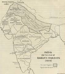 North India Map by Medieval Indian History Quick Guide