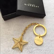star key rings images Givenchy accessories parfums gold metal star keychain key ring jpg