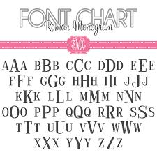 monogrammed fonts monogram font charts
