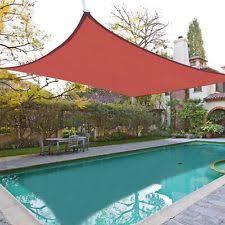 Backyard Shade Sail by 18x18 U0027 Size Garden U0026 Patio Shade Sails Ebay