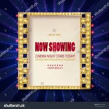 cinema poster gold frame on background stock vector 655779058