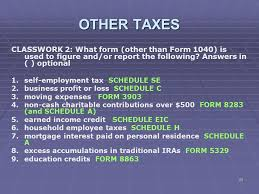 7 1 tax tables worksheets and schedules answers liberty tax service online basic income tax course lesson ppt download