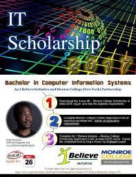 ibi monroe college computer information systems scholarship