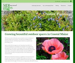 native plant landscape design mdi grows landscaping services mount desert island and beyond