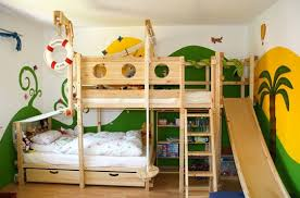 Childrens Bunk Bed With Slide Diy Loft Bed With Slide Found On Apartmenttherapy Toddler