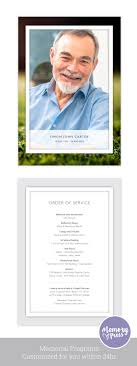 unique funeral programs best of memorial service program template best templates