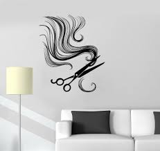 wall room decor art vinyl decal sticker beauty hair salon tools