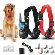 agptek rechargeable 2 dogs training shock collar 100 level