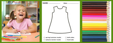 make your dress children draw their own customized cool kids
