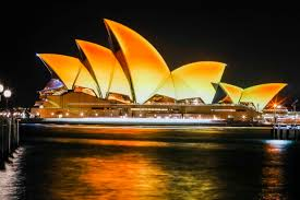 sydney opera house u0027s iconic sails turn gold to celebrate diwali