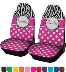 zebra print desk accessories zebra print u0026 polka dots car seat covers set of two